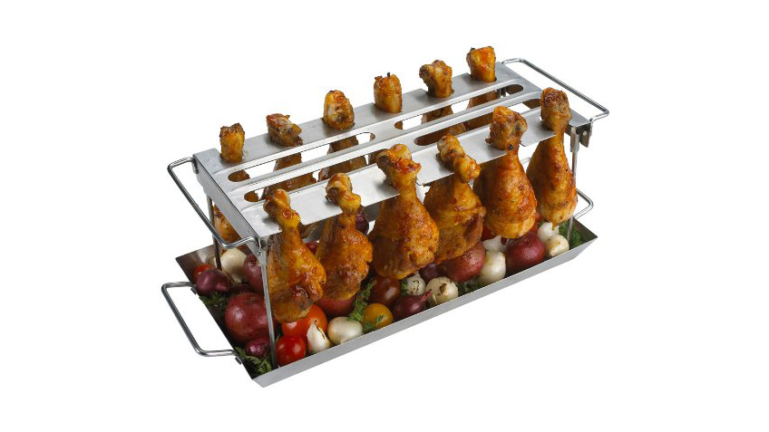 GrillPro Stainless Steel Grill Wing Rack